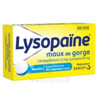 LysopaÏne Comprimés à Sucer Maux De Gorge Sans Sucre 2t/18 à NEUILLY SUR MARNE