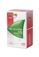 Nicorette 2 Mg Gomme à Mâcher Médicamenteuse Sans Sucre Fruits Plq/105 à NEUILLY SUR MARNE