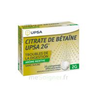 Citrate De Bétaïne Upsa 2 G Comprimés Effervescents Sans Sucre Menthe édulcoré à La Saccharine Sodique T/20 à NEUILLY SUR MARNE