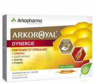 Arkoroyal Dynergie Ginseng Gelée Royale Propolis Solution Buvable 20 Ampoules/10ml à NEUILLY SUR MARNE