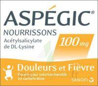 Aspegic Nourrissons 100 Mg, Poudre Pour Solution Buvable En Sachet-dose à NEUILLY SUR MARNE