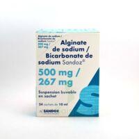 Alginate De Sodium/bicarbonate De Sodium Sandoz 500 Mg/267 Mg, Suspension Buvable En Sachet à NEUILLY SUR MARNE