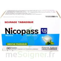 Nicopass 1,5 Mg Pastille Sans Sucre Menthe Fraîcheur Plq/96 à NEUILLY SUR MARNE