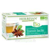 Herbesan Infusion Bio Tisane Transit Facile 20 Sachets à NEUILLY SUR MARNE
