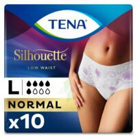 Tena Lady Silhouette Slip Absorbant Blanc Normal Large Paquet/10 à NEUILLY SUR MARNE